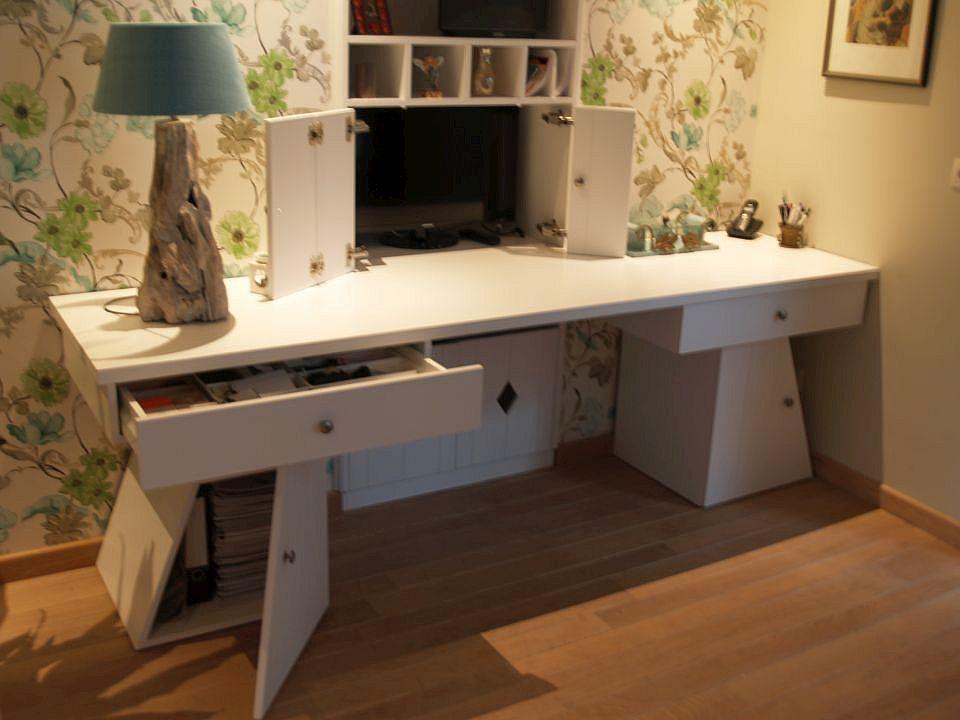 Bureau en kast ineen simple extreem bureau met brede werkblad